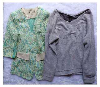 Bundle Blazer and Sweater ater