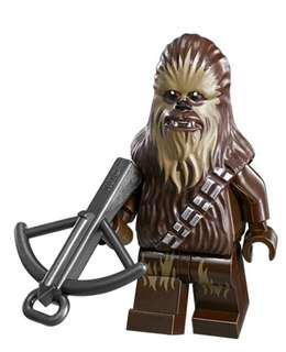 Lego Chewbacca minifigure from Star Wars