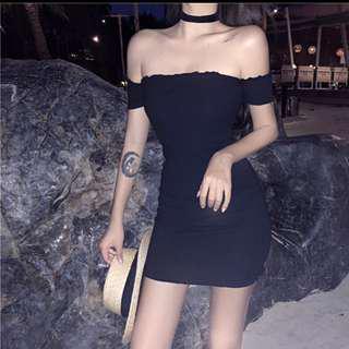 Black Off Shoulder Dress 😍😆