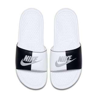 NIKE WMNS BENASSI JUST DO IT JDI 黑白 陰陽 拖鞋 涼鞋 女鞋 343881-104
