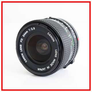 Canon FD 24mm F2.8 Manual Wide Angle Lens (Canon FD Mount) #21238