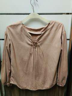 Pink ribbon blouse