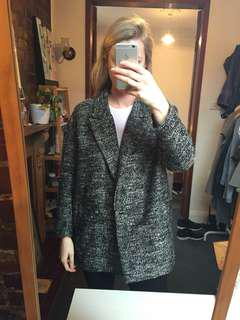 H&M oversized grey boyfriend jacket