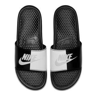NIKE BENASSI JDI SLIDE 黑白 灰 陰陽 拖鞋 343880-015 男女鞋