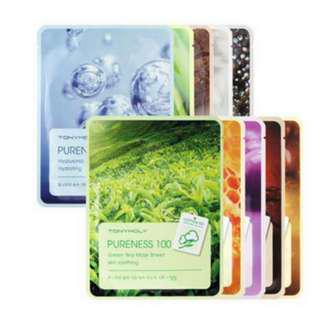 Pureness 100 Mask Sheet (Authentic Tony Moly Shipped from Korea. PROMO: P100 - 1pc/ P180- 2pcs)