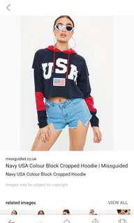 USA cropped jumper