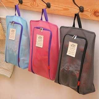 Travel waterproof portable shoes bag (black)