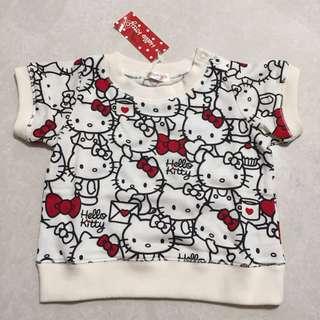 Hello Kitty baby kid Tee t-shirt top sweater bb 小童 短袖 上衣 衛衣