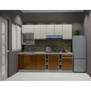 Kabinet Dapur dan almari bilik