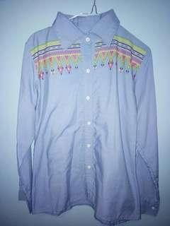 Denim's pattern T-shirt
