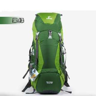 戶外 遠足 露營 童軍 45 + 10L 全尼龍 綠色 背囊 背包 送防水罩 Outdoor Camping Hiking Green Color 45 + 10L Rucksack Backpack with FREE raincover
