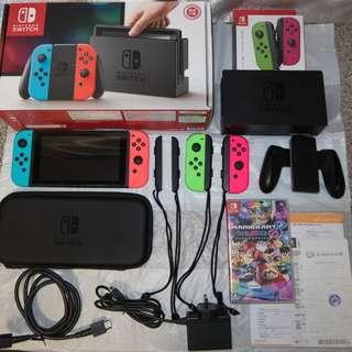99%新 香港行貨Nintendo Switch 連1隻game 連額外兩個手制 (保存極佳)