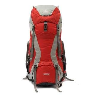 戶外 遠足 露營 童軍 45 + 10L 全尼龍 紅配灰 背囊 背包 送防水罩 Outdoor Camping Hiking 45 + 10L Rucksack Backpack with FREE raincover