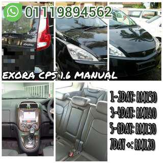 Car for rent PROTON EXORA MANUAL