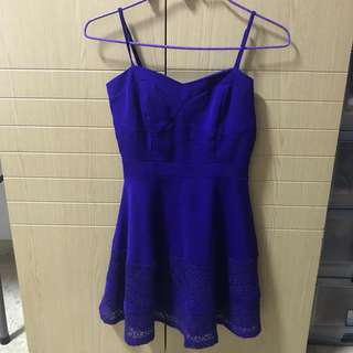 Purple Lace Strap Dress