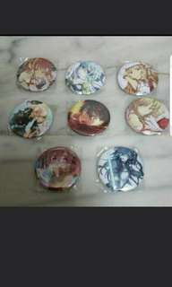 SAO Badges [ Set of 8 ]