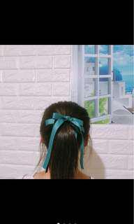 🚚 韓版氣質高雅大方髮圈(緞帶蝴蝶結 未拆標籤🏷️
