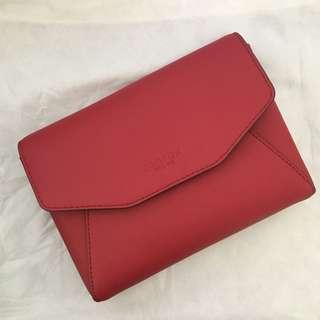 BNWT Oroton red estate envelope crossbody/ clutch