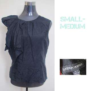 Laura Ashley Black Elegant Blouse