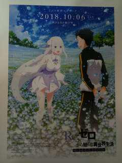 Re: Zero Starting Life in Another World Poster