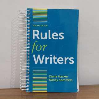 rules for writers英文寫作 文法句型(美國大學用教科書)