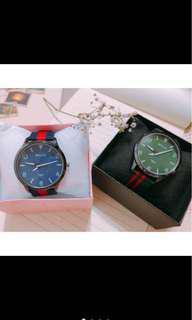 🚚 ⚠️現貨附錶盒❤️韓版簡約時尚搭配尼龍材質手錶/對錶/情侶錶/男女錶