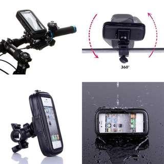 360' Rotation Bike Bicycle Mobile Phone Mount Holder Waterproof Zipper Bag GPS