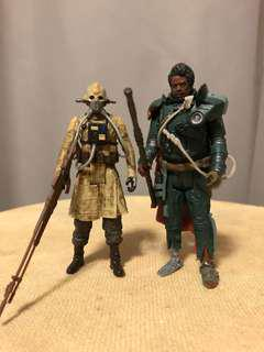Star Wars Saw Gerrera and Two Tubes Set rogue one Jedha pack