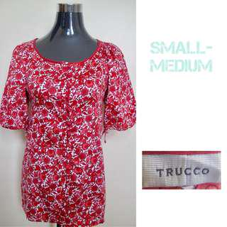 Red Floral Blouse (Very Pretty/Elegant)