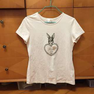 白色短袖修身t shirt