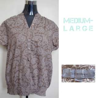 Brown Printed Blouse