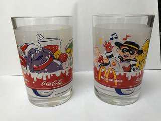 麥當勞可口可樂玻璃杯 $50/2只