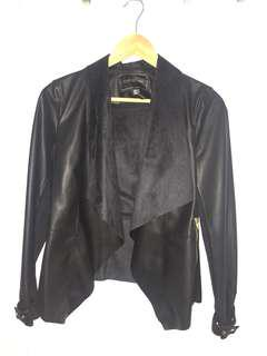 FOREVER NEW faux leather waterfall jacket
