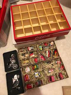 可口可樂珍藏絕版 木盒擺設 迷你精緻 復刻版本 一套完整不㪚買