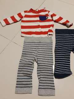 Mou Jon Jon baby clothes long sleeve and pants