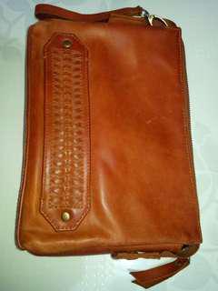 Hand bag Kulit Sapi Nabati tebal