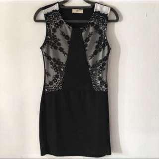 Clearing Wore Once Lace Sleeveless Bodycon Dress