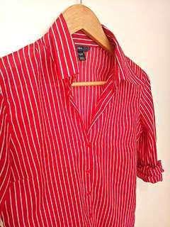 H&M Striped Polo (Size: S)