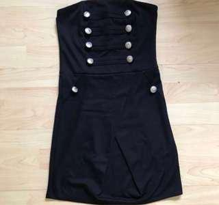 Clearing Wore Once Military Black Tube Dress