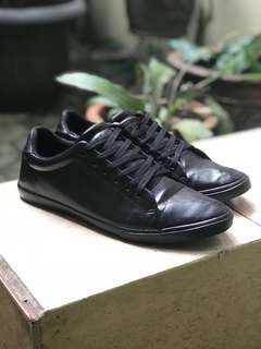 Airwalk Black Leather Low Sneakers