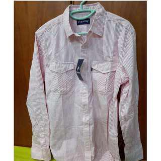 [BRAND NEW] Denizen Pink Striped Long Sleeve Shirt