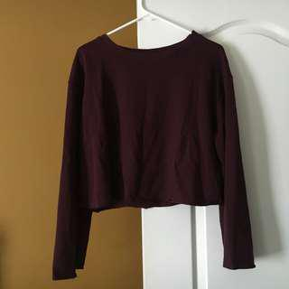 H&M Wide Sleeve Cropped Crewneck