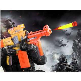 Nerf Rifle Gun (Automated with Mag Fed ) with 10 Continual Shots (Battery operated)