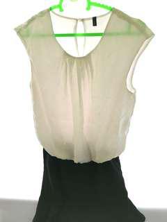 Benetton - Black & White Dress size S