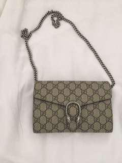GUCCI dionysus supreme chain on wallet