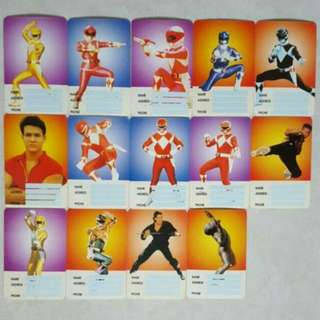 Mighty Morphin Power Rangers Mmpr Name Card