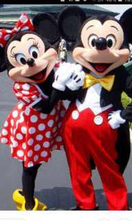Mickey and Minnie mascot costume for rental