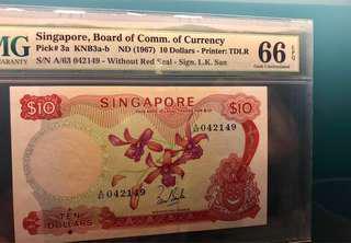 $10 Orchid LKS PMG 66EPQ