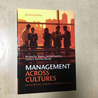 Management Across Cultures, second edition like new