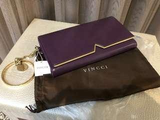 🚚 馬來西亞帶回VINCCI手拿晚宴包(神秘性感紫)